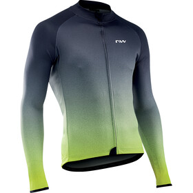 Northwave Blade 3 Maglia jersey a maniche lunghe Uomo, grigio/giallo